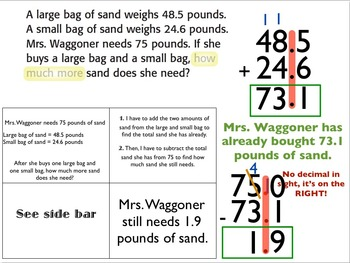 Adding & Subtracting Decimals: Teaching & Practice Powerpoint