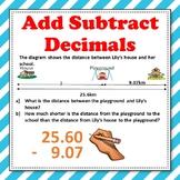 Adding Subtracting Decimals Word Problems Worksheets