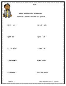Adding & Subtracting Decimals for PROMETHEAN Board