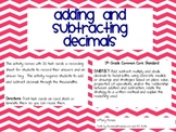 Adding & Subtracting Decimals through the Thousandths