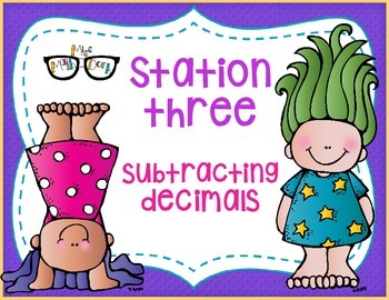 Adding & Subtracting Decimals through thousandths: Solve and Match!