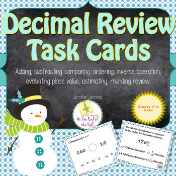 Adding, Subtracting, Estimating, and Evaluating Decimals Task Card Set