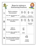 Adding & Subtracting Fractions Foldable