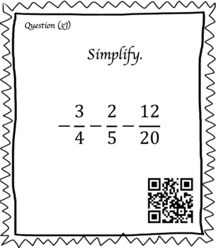 Adding & Subtracting Fractions (30 Task Cards – 3 different levels!)