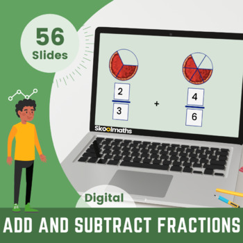 Adding & Subtracting Fractions, 4th grade, (UK Year 5, key stage 2)