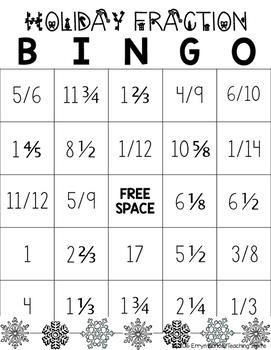 Adding/Subtracting Fractions BINGO
