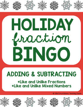 Adding/Subtracting Fractions BINGO