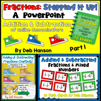 Fractions Bundle for 5th Grade: Adding and Subtracting Fractions