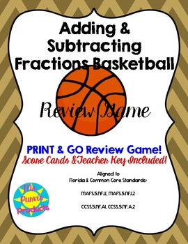 Adding & Subtracting Fractions Basketball