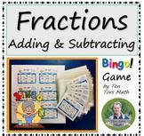 Adding & Subtracting Fractions Bingo! game activity