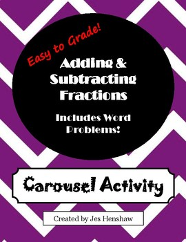 Adding & Subtracting Fractions CAROUSEL ACTIVITY (includes LCM and GCF)