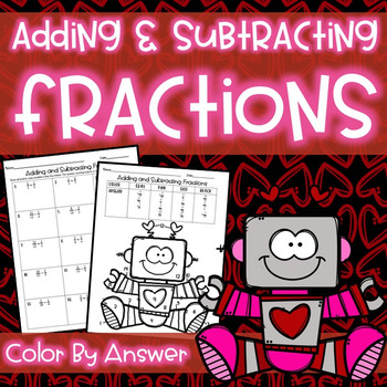 Adding & Subtracting Fractions Color By Answer