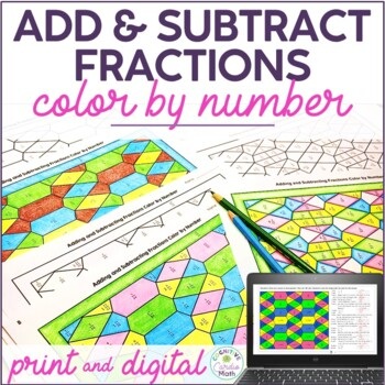 adding and subtracting fractions activity pdf
