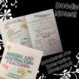 Adding & Subtracting Fractions - Decorated Notes Brochure for Notebooks