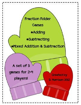 Adding & Subtracting Fractions File Folder Games