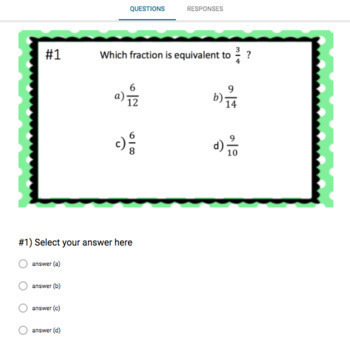 Adding & Subtracting Fractions Google Form Bundle – Perfect for Google Classroom