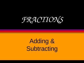 Adding & Subtracting Fractions ~ Includes Mixed Numbers