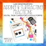 Adding & Subtracting Fractions Like Denominators Digital T