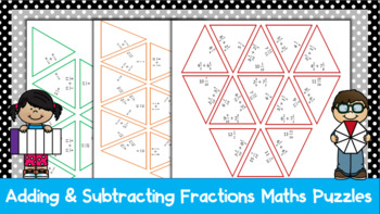 Adding & Subtracting Fractions Maths Puzzles