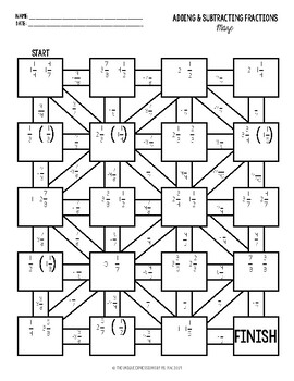 Adding & Subtracting Rational Numbers Maze Activity