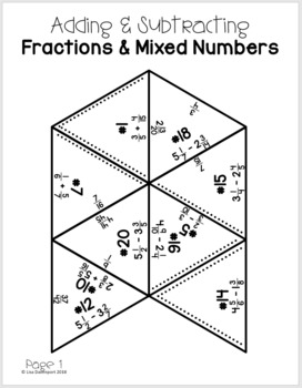 Adding & Subtracting Fractions (PUZZLE)