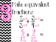 Adding/Subtracting Fractions Steps Posters (Pink)