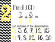 Adding/Subtracting Fractions Steps Posters (Yellow)