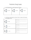 Adding / Subtracting Fractions Study Guide
