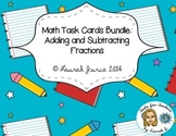Adding & Subtracting Fractions Task Card Bundle {Enhanced with AR}