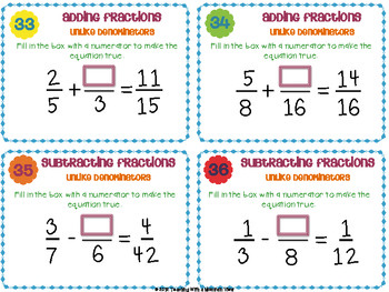 adding and subtracting fractions with unlike denominators pdf
