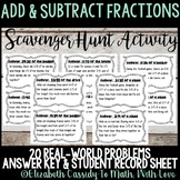 Fractions Scavenger Hunt - Adding & Subtracting Fractions