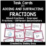 Adding/Subtracting Fractions Tasks | Improper, Mixed, Diff