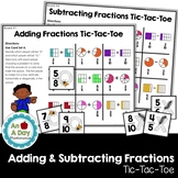 Adding & Subtracting Fractions Tic-Tac-Toe, Fraction Math Centers