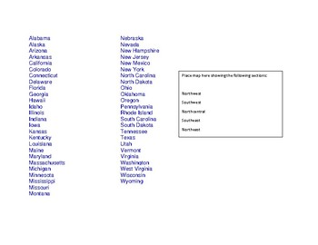 Adding & Subtracting Fractions with Common Denominators (U.S. Map Activity)
