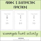 Adding & Subtracting Fractions (Unlike Denominators)