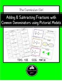 Adding & Subtracting Fractions using Pictorial Models (4.3E, 4.NF.3)
