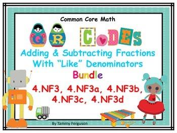 """Adding & Subtracting Fractions with Like Denominators"" Bundle"