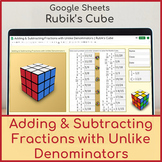 Adding & Subtracting Fractions with Unlike Denominators   Distance Learning