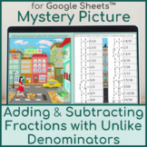 Adding & Subtracting Fractions with Unlike Denominators-Di