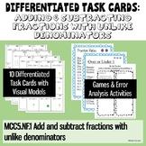 Adding & Subtracting Fractions with Unlike Denominators- Leveled Activities