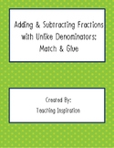 Adding & Subtracting Fractions with Unlike Denominators: M