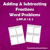 Adding & Subtracting Fractions with Unlike Denominators Word Problems