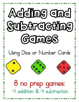 Adding & Subtracting Games