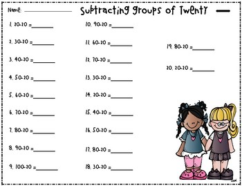 Adding & Subtracting Groups of Ten