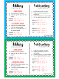 MATH: Adding & Subtracting Integer Rules - Mini Student Visual
