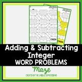 Adding & Subtracting Integer Word Problems Maze Activity
