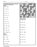 Adding & Subtracting Integers Cross-Number Puzzle