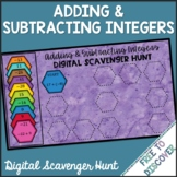 Adding & Subtracting Integers Digital Scavenger Hunt