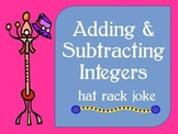 Adding & Subtracting Integers ~ Hat Rack Joke