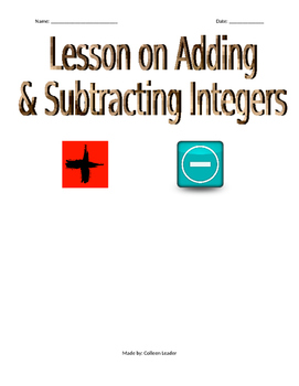 Adding & Subtracting Integers Lesson